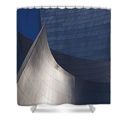 Disney Hall Abstract Shower Curtain by Rona Black