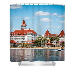 Disney's Grand Floridian Resort And Spa Shower Curtain by Sara Frank