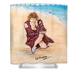 Shower Curtain featuring the painting Disperazione by Loredana Messina
