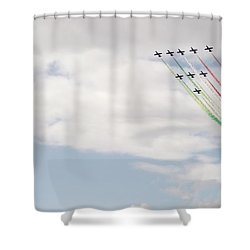 Shower Curtain featuring the photograph Displaying The Flag by Tracey Williams