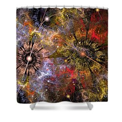 Distant Cosmos Shower Curtain