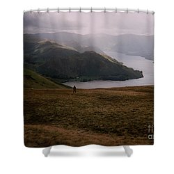 Distant Hills Cumbria Shower Curtain
