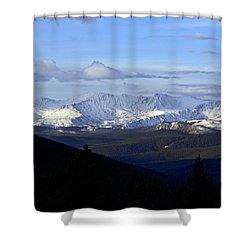 Distant Light Shower Curtain by Jeremy Rhoades