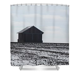Shower Curtain featuring the photograph Distant Local Train Depot by Tina M Wenger