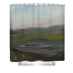 Distant Mist Shower Curtain