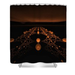Distant Runway Shower Curtain by GJ Blackman