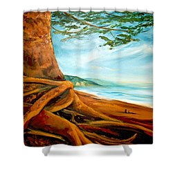 Shower Curtain featuring the painting Distant Shores Rejoice by Meaghan Troup