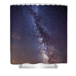 Distant Visitors Shower Curtain by Darren  White
