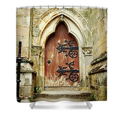 Distressed Door Shower Curtain by Valerie Reeves