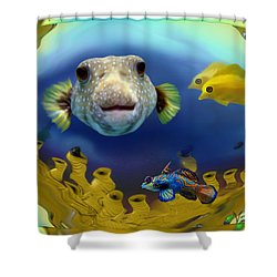 Diver's Perspective Shower Curtain