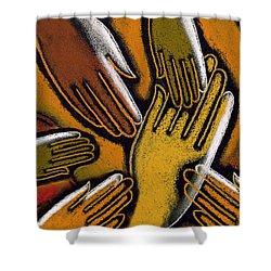 Diversity Shower Curtain by Leon Zernitsky
