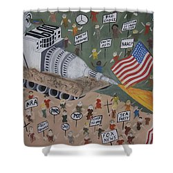Divided We Stand Shower Curtain by Dean Stephens