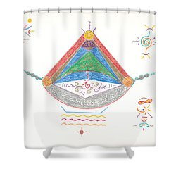 Divine Balance Shower Curtain