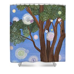 Shower Curtain featuring the painting Divine Possibilities by Cheryl Bailey