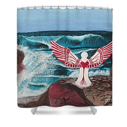 Shower Curtain featuring the painting Divine Power by Cheryl Bailey