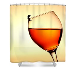 Diving In Red Wine Little People On Food Shower Curtain