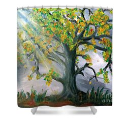 Divinity Inspired Shower Curtain