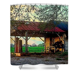 Shower Curtain featuring the photograph Dixie Oil And Gasoline by Rodney Lee Williams