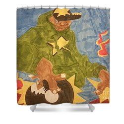 Dj Rapper Shower Curtain