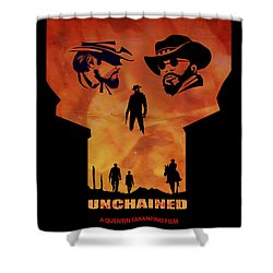 Django Unchained Alternative Poster Shower Curtain