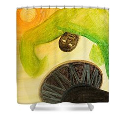 Djembe Shower Curtain by Marc Philippe Joly