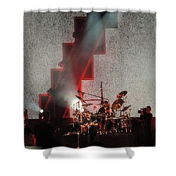 Shower Curtain featuring the photograph Dmb Members by Aaron Martens