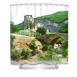 Do-00403 Mussaylaha Fort  Shower Curtain