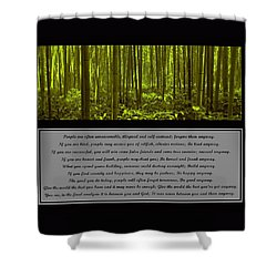 Do It Anyway Bamboo Forest Shower Curtain by David Dehner