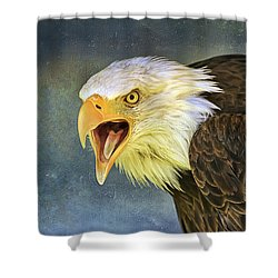 Do It Or Else Shower Curtain by Teresa Zieba