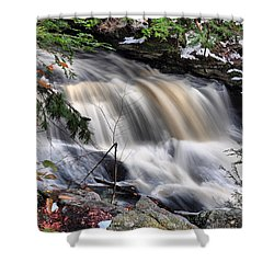 Doane's Lower Falls In Central Mass. Shower Curtain by Mitchell R Grosky