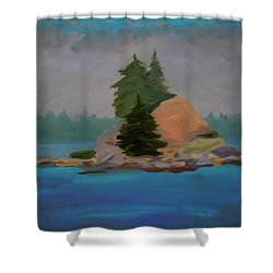 Shower Curtain featuring the painting Pork Of Junk by Francine Frank