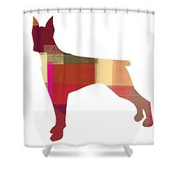 Doberman Pinscher Shower Curtain by Naxart Studio