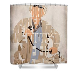 Doc. Brown Shower Curtain