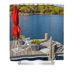 Dock By The Bay Shower Curtain by William Norton