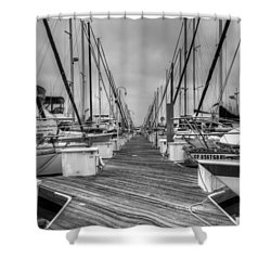 Dock Life Shower Curtain by Heidi Smith