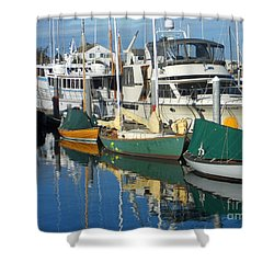 Dock Of The Bay Shower Curtain by Lauren Leigh Hunter Fine Art Photography