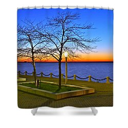 Dock Of The Bay Shower Curtain by Frozen in Time Fine Art Photography