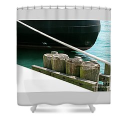 Docked Shower Curtain by Ann Horn
