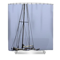 Shower Curtain featuring the photograph Docked At Bay by Lilliana Mendez