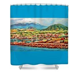 Docked In St. Kitts Shower Curtain