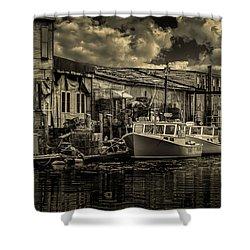 Dockside  Shower Curtain by Bob Orsillo