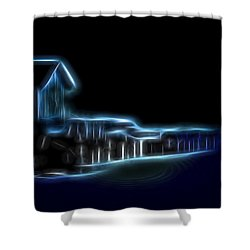 Dockside Moonlight Shower Curtain