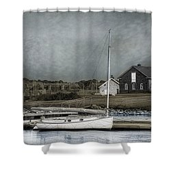 Shower Curtain featuring the photograph Dockside Newport by Robin-Lee Vieira