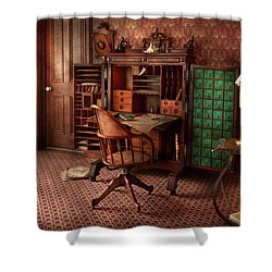 Doctor - Desk - The Physician's Office  Shower Curtain by Mike Savad