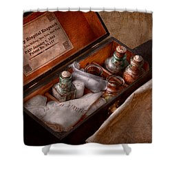 Doctor - Hospital Knapsack  Shower Curtain by Mike Savad