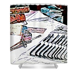 Shower Curtain featuring the photograph Doctor - Medical Instruments by Susan Savad