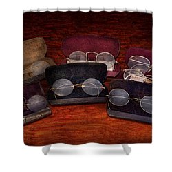 Doctor - Optometrist - Array Of Opticals Shower Curtain by Mike Savad