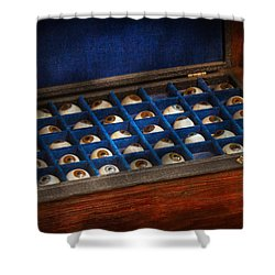 Doctor - Optometrist - I've Always Had Eyes For You Shower Curtain by Mike Savad