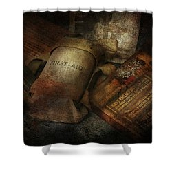Doctor - Wwii Emergency Med Kit Shower Curtain by Mike Savad