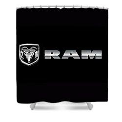 Dodge Ram Logo Shower Curtain